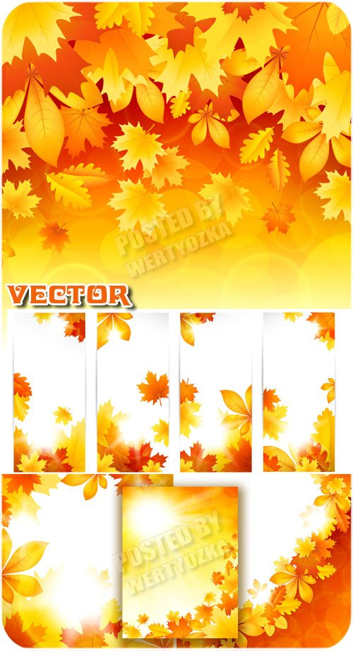 Осенние фоны и баннеры / Autumn backgrounds and banners - vector