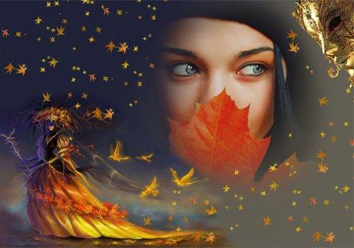 Рамка женская  ''Волшебница осень ''