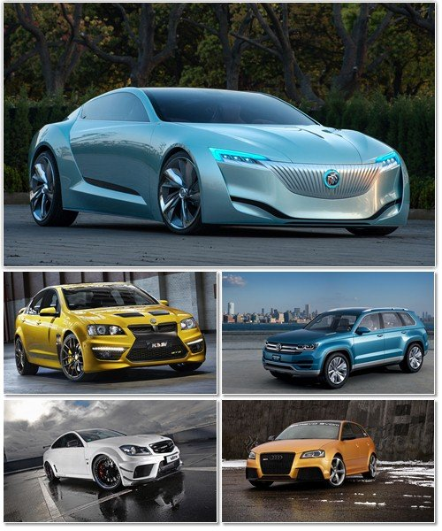 Набор обоев с автомобилями разных марок 4