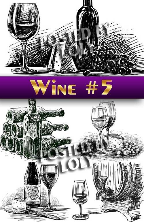 Векторное Вино #5 - Векторный клипарт