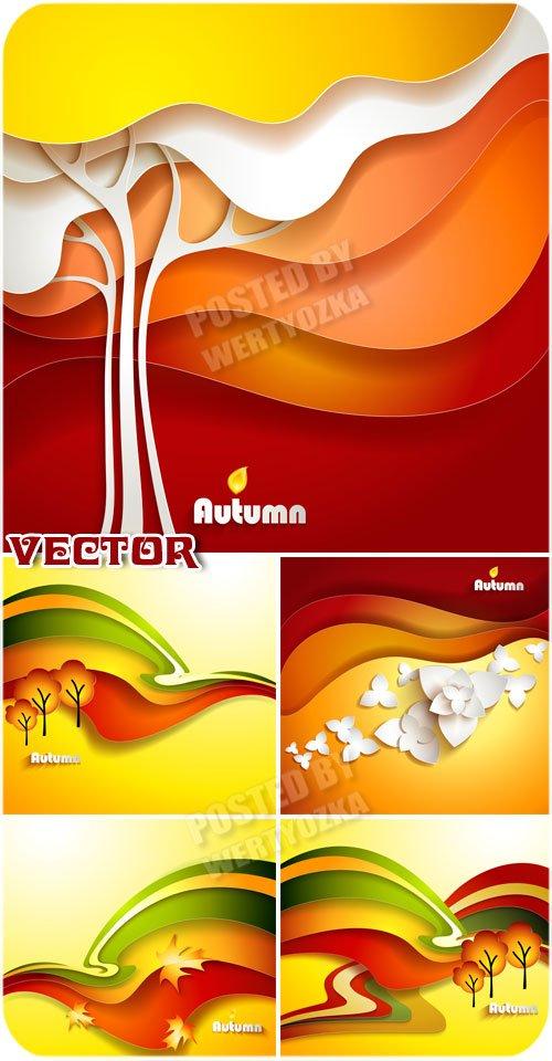 Осенние фоны, креатив / Autumn backgrounds, creative - vector