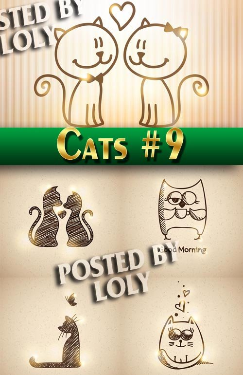 Чудесные котята #9 - Векторный клипарт