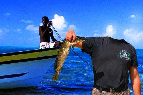 Фотошаблон для мужчин-на зависть рыбакам