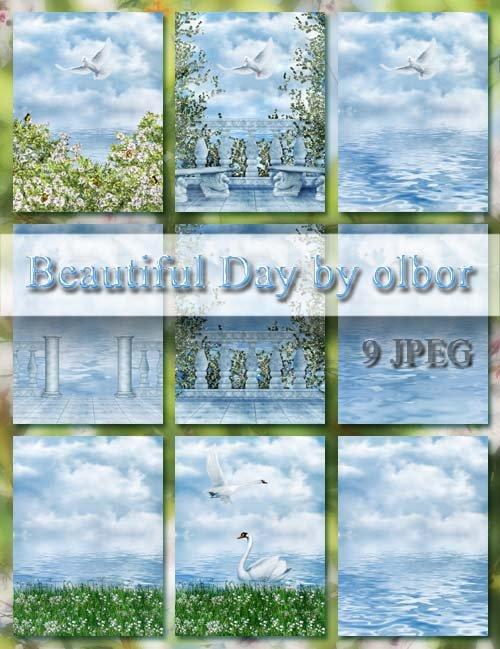 Растровые фоны - Beautiful Day by Olbor