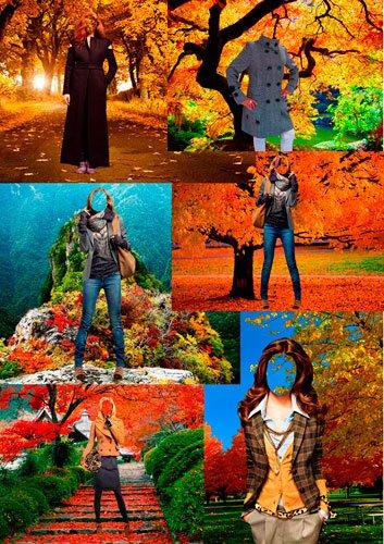 Шаблоны для фотошопа – Пришла золотая осень