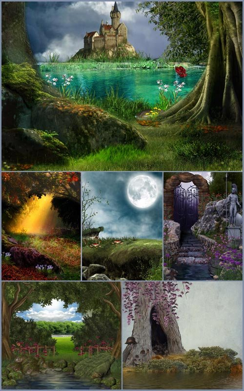 Фоны для фотошопа - Сказочный пейзаж 5