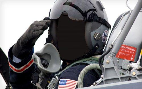 Шаблон мужской - Летчик боевого самолета