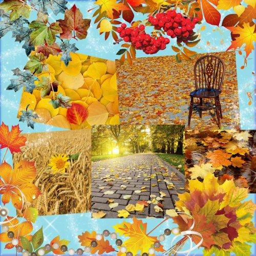 Осенние фоны для оформления рамок, фотоальбомов, коллажей
