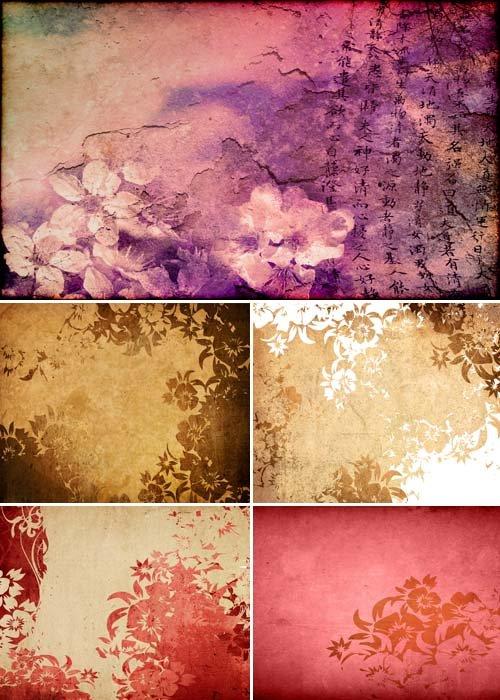 Цветочный абстракт в восточном стиле
