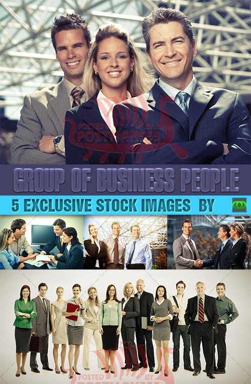 STOCK IMAGES - Группа деловых людей / Group of Business People, Set 1