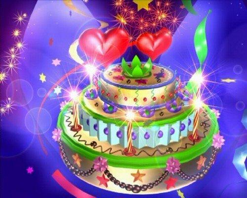 Футаж праздничный - Праздничный торт