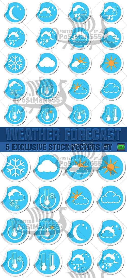VECTOR CLIPART - Прогноз погоды / Weather Forecast - Icons set 1