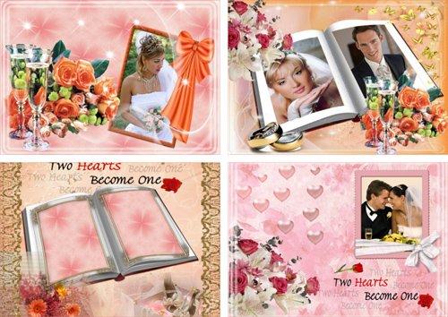 Свадебные фоторамки - Любовь и нежность