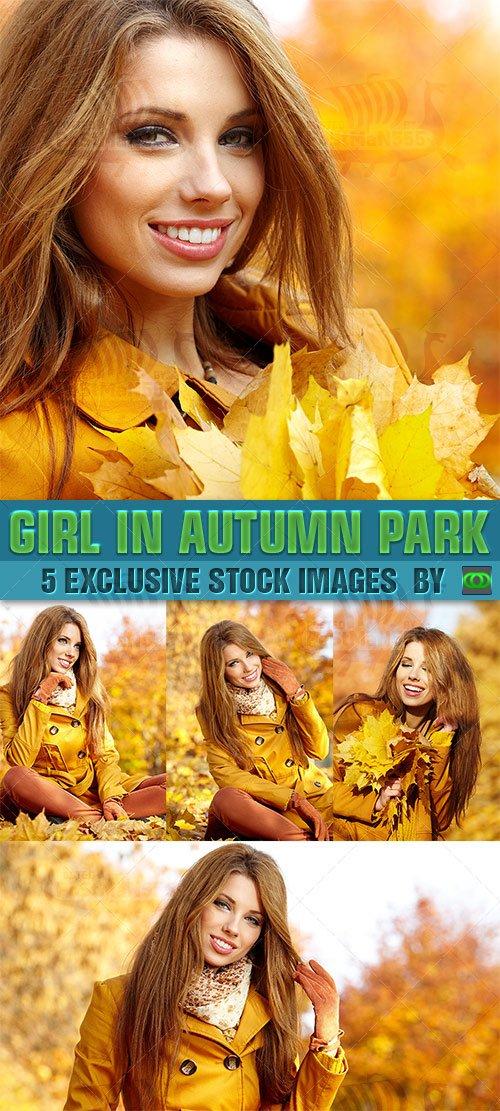 STOCK IMAGES - Красивая девушка в осеннем парке / Beautiful girl in autumn  ...