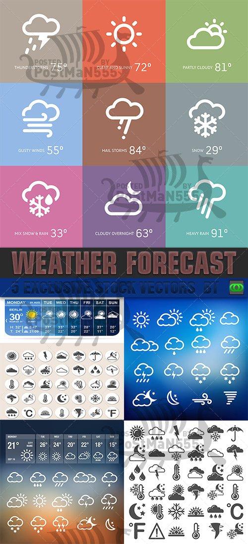 VECTOR CLIPART - Прогноз погоды / Weather Forecast - Icons set 2