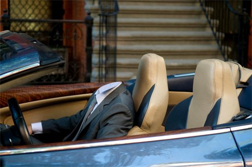 Шаблон мужской - Мужчина за рулем престижного автомобиля