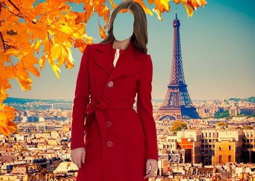 Шаблон для фотошопа – Осень в Париже