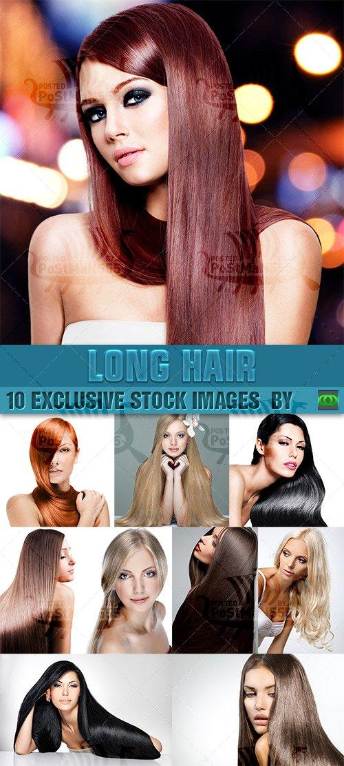 Красивые девушки с длинными волосами | Beautiful women with long hair, Сток ...