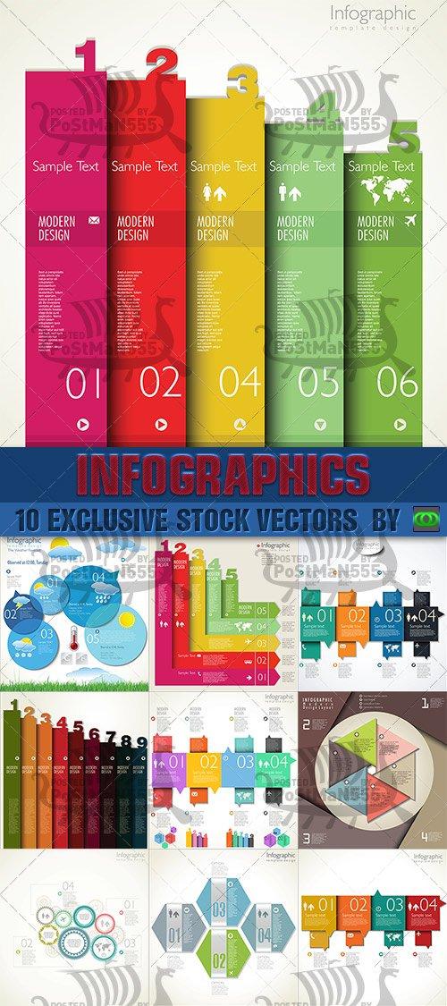 Современный дизайн шаблона | Infographics - Modern Design template 3, Векто ...
