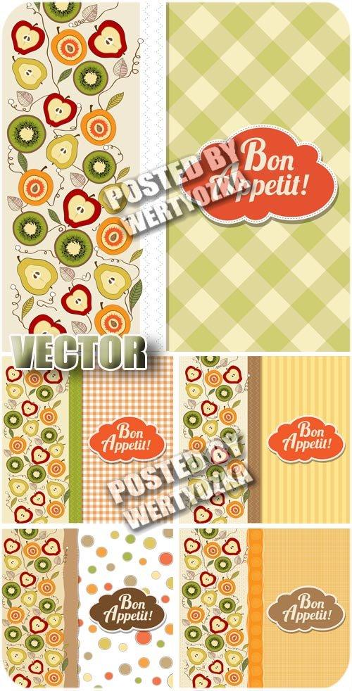 Обложки для меню  с фруктами / Cover for menu with fruits - vector stock