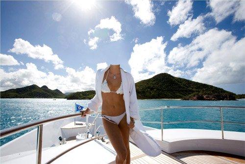 Шаблон для фотошопа - Отдых на яхте