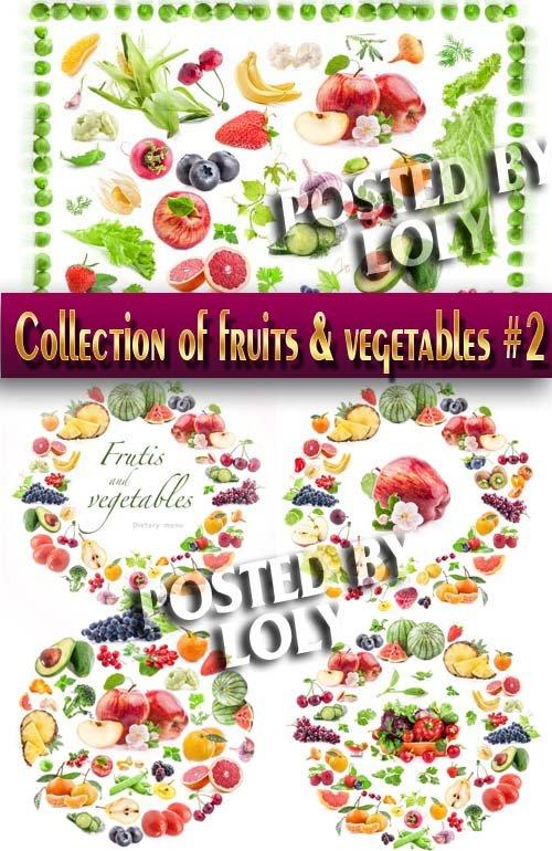 Еда. Мега коллекция. Овощи и Фрукты #2 - Растровый клипарт