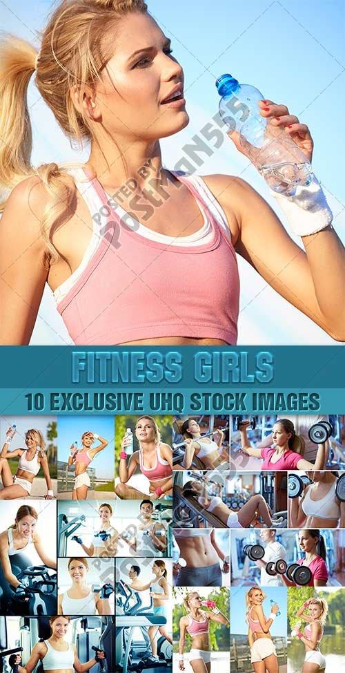 Спортивные девушки | Fitness girls Collection, 2 - Стоковый клипарт