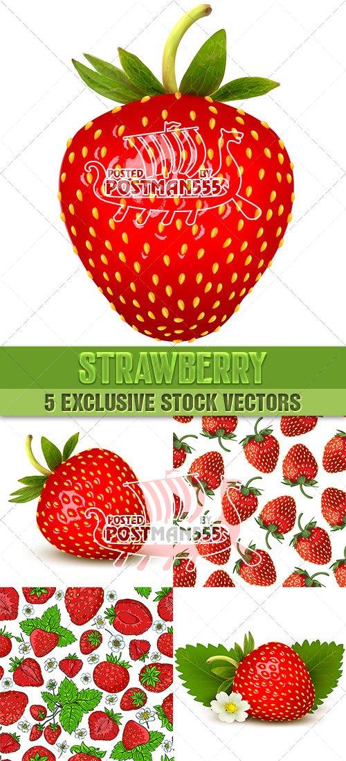 Клубника сочная | Strawberry, Вектор