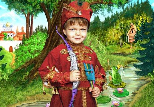 Шаблон  детский  ''Герой русской сказки''