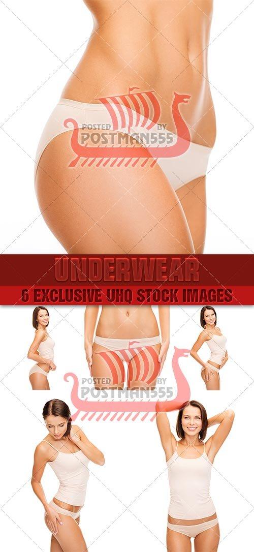 Девушка в нижнем белье | Girl in lingerie - Стоковый клипарт
