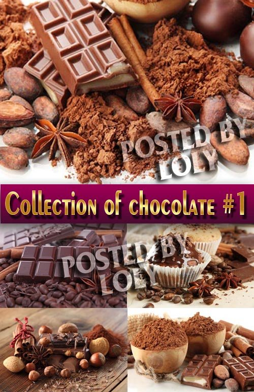 Еда. Мега коллекция. Шоколад #1 - Растровый клипарт