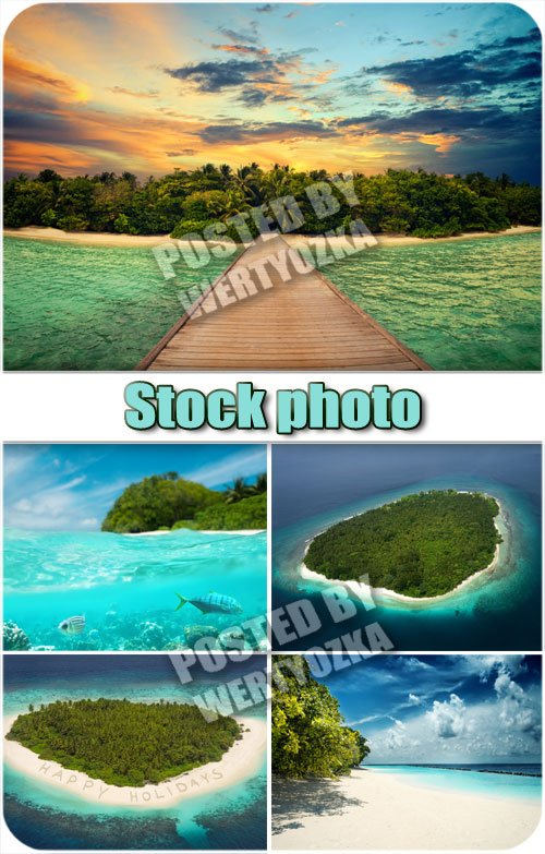 Остров в океане / Island in the ocean - stock photos