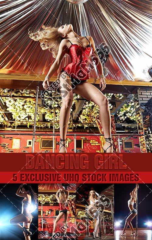 Танцующая девушка | Dancing girl, 2 - Стоковый клипарт