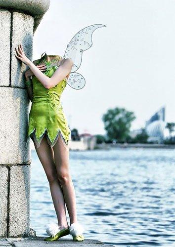 Шаблон для девушек - Фея у водоема