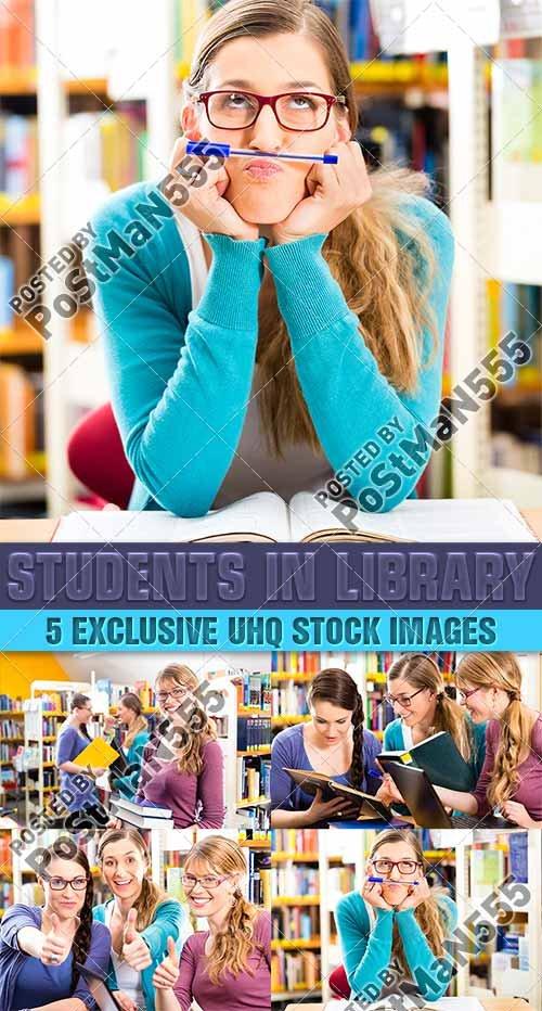 Студенты в библиотеке, молодые люди в читальном зале, 2 | Students in libra ...
