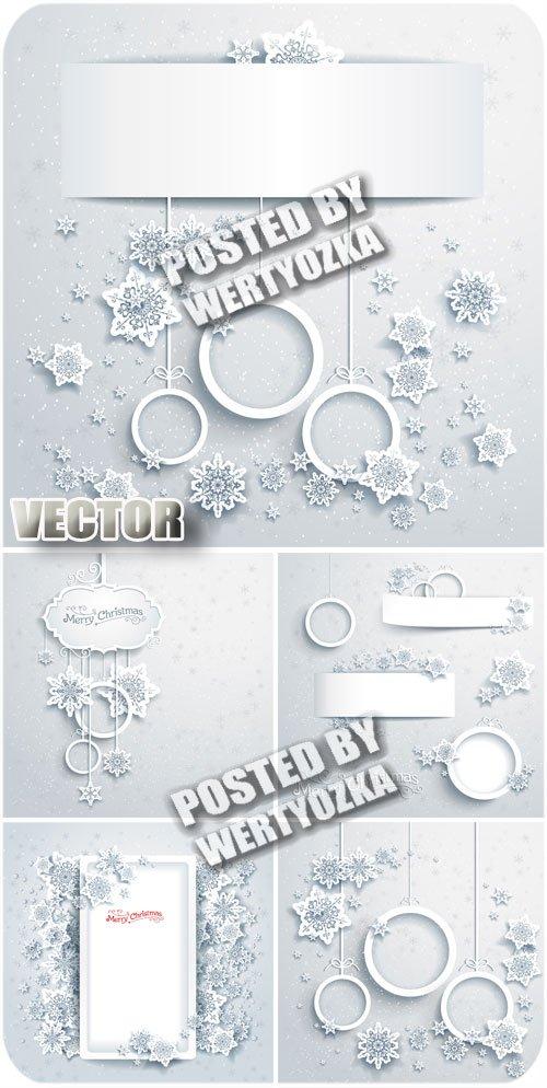 Зимние фоны с снежинками / Winter background with snowflakes - stock vector