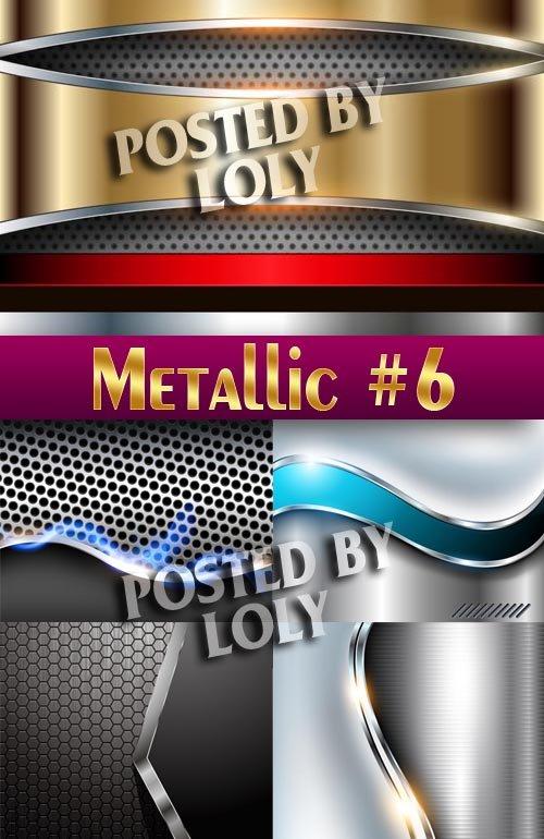 Металлические фоны #6 - Векторный клипарт