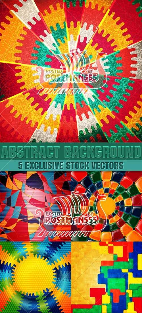 Цветные в абстрактном стиле фоны | Colored in abstract style backgrounds, В ...