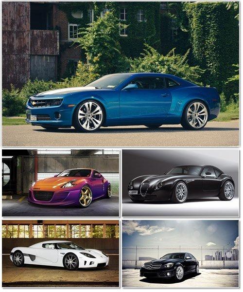 Набор обоев с автомобилями разных марок 10