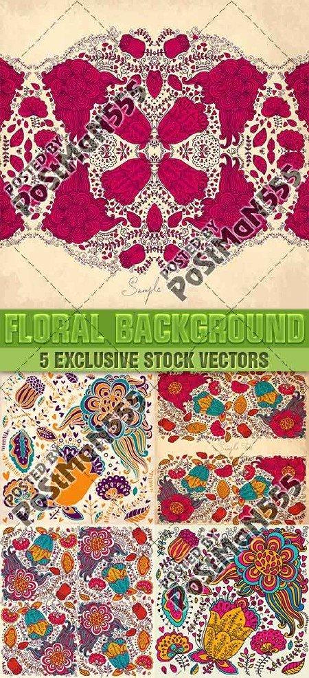 Романтические цветочные орнаменты для открыток, фонов, текстур | Romantic f ...