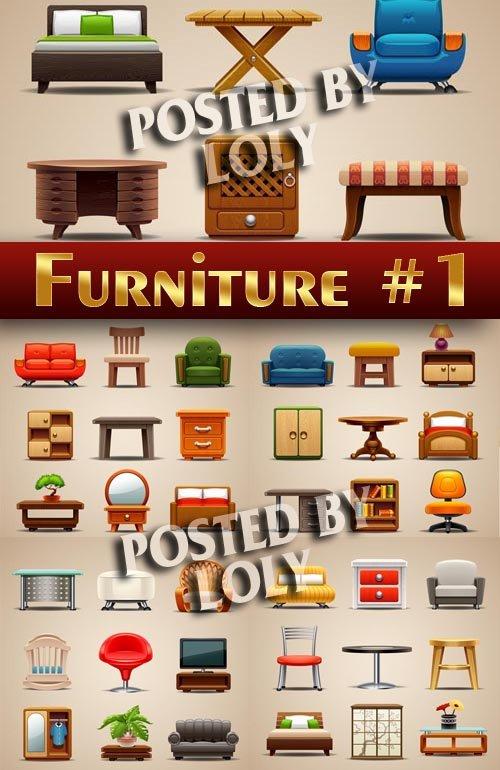 Иконки. Мебель #1 - Векторный клипарт