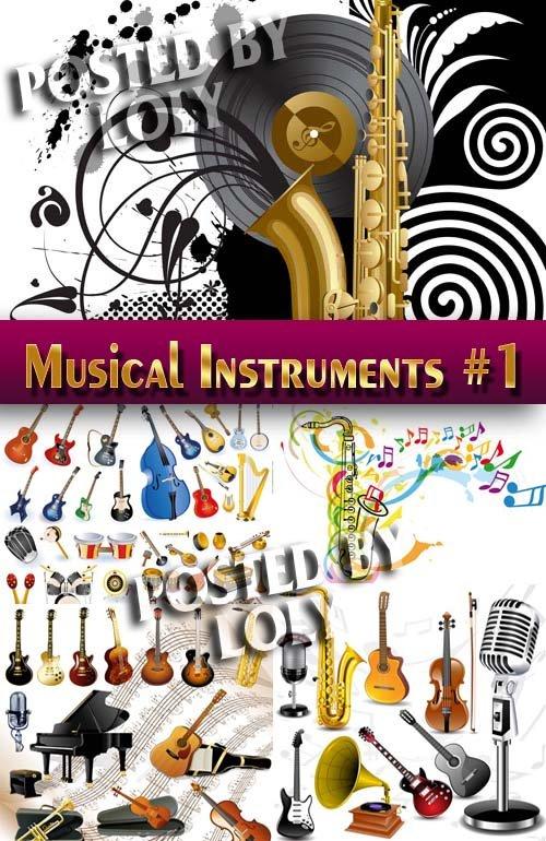 Музыкальные инструменты #1 - Векторный клипарт