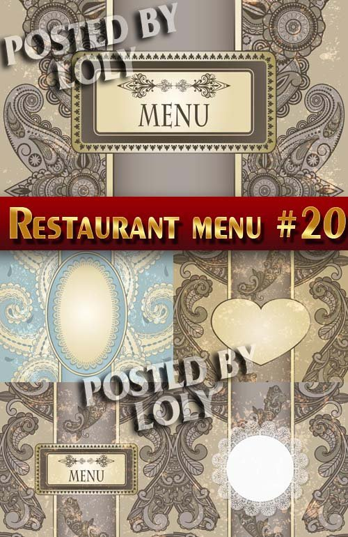 Ресторанные меню #20 - Векторный клипарт
