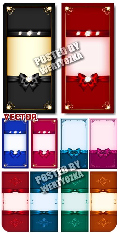 Праздничные карточки с сияющими камнями / Celebratory card - stock vector