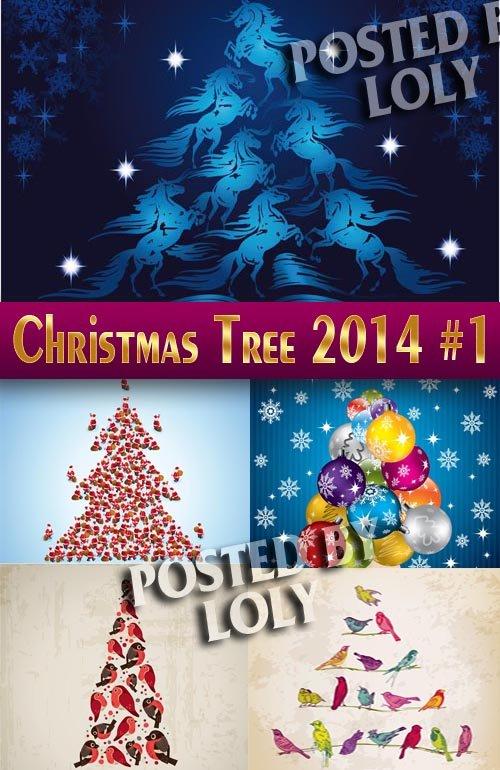 Новогодние елки 2014 #1 - Векторный клипарт