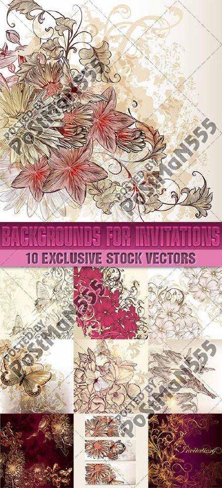 Свадебные пригласительные  карточки с цветами и бабочками | Wedding invitat ...