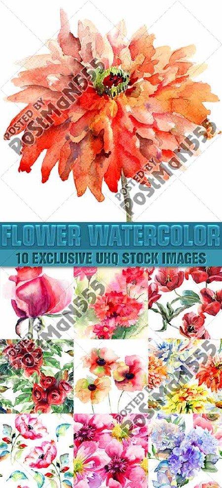 Красивые акварельные бесшовные паттерны с цветами | Beautiful watercolor se ...