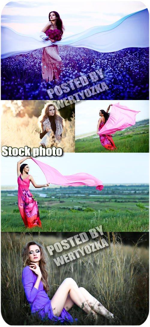 Девушки и природа / Girls and nature - stock photos