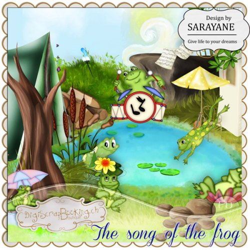 Скрап-набор The song of the frog