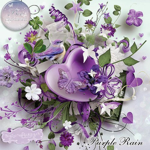 Скрап-набор Purple Rain